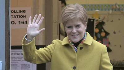 SNP leader Nicola Sturgeon casts vote in general election