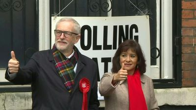 Corbyn votes in Britain's snap 'Brexit election'