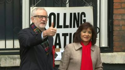 UK political leaders vote in general election