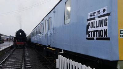 Converted railway carriage becomes unusual polling station in the UK
