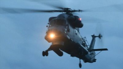 Air Force helicopters arrive at airport for NZ recovery mission