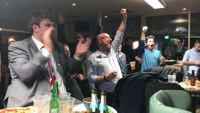 "Tory supporters cheer as Johnson's ruling party set for big win in UK's ""Brexit election"""