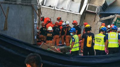 Rescuers retrieve two bodies after earthquake in the Philippines
