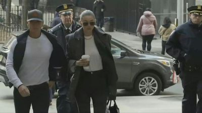 Gigi Hadid arrives at court for Weinstein trial