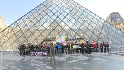 France's Louvre Museum closed to public due to staff strike against pension reform
