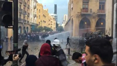 Clashes erupt outside Lebanon's Parliament in central Beirut