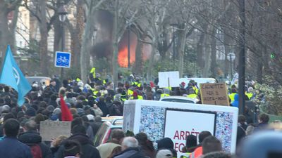 Tense yellow vest protest in Paris (2)
