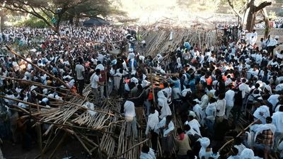 At least ten dead after seating area collapse at Ethiopian festival