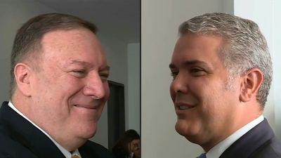 US' Pompeo, Colombia's Duque in head to head in Bogota