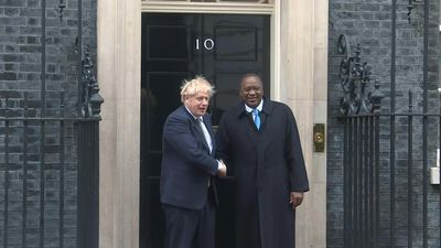 British Prime Minister Boris Johnson meets Kenyan President Uhuru Kenyatta at Downing Street