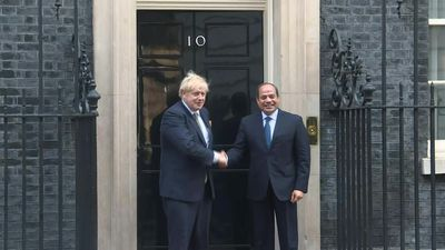 Boris Johnson meets with Egypt president al-Sisi