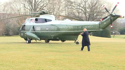 Donald Trump leaves the White House to head to Floria