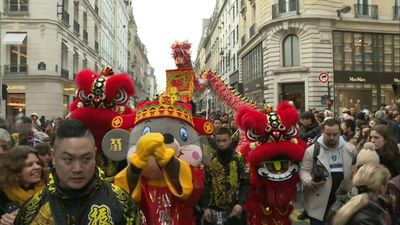 Paris celebrates Chinese New Year with a colorful parade