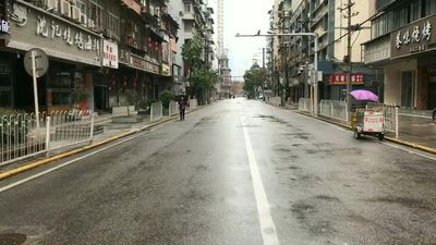 China coronavirus: Empty streets of Wuhan