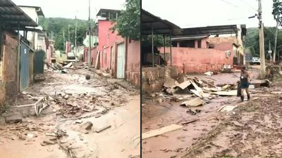 Destruction in Brazil's Minas Gerais after heavy rains kill 44