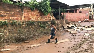 Brazil residents survey damage after floods killed 45