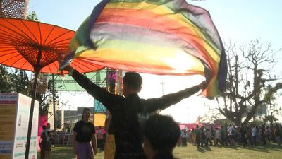 Colourful performances and a 'drag Olympics' at Yangon Pride party