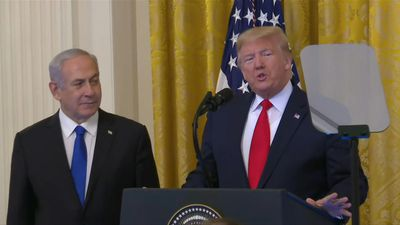 Trump, launching Mideast plan, says Israel taking 'big step towards peace'