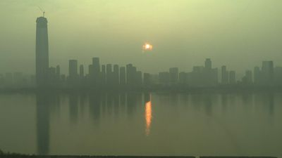China virus: Images of sunrise in Wuhan