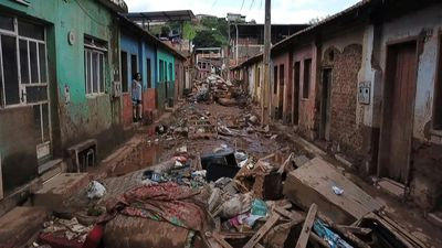 Brazilian town devastated by floods faces muddy desolation