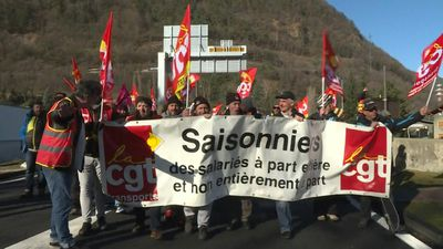 France: Ski resort workers protest unemployment insurance reform