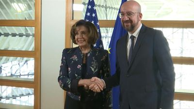 EU Council President welcomes US Speaker of the House in Brussels