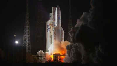 Ariane 5 lifts off with Japanese and South Korean satellites aboard