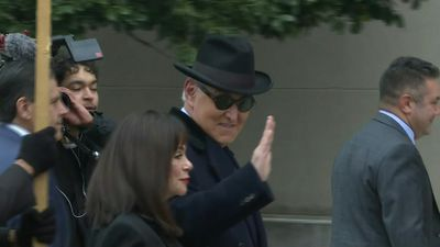 Roger Stone arrives at court ahead of sentencing