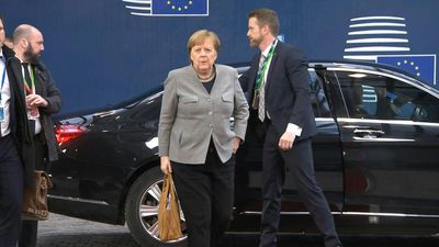 Angela Merkel, Emmanuel Macron and Charles Michel arrive for second day of budget summit