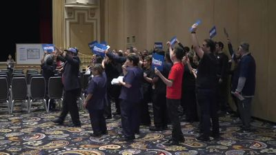 Democratic voters take part in Nevada caucus at Bellagio resort