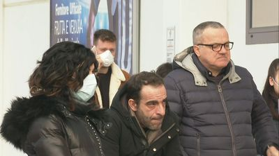 Italy: residents queue for supplies at supermarket after coronavirus outbreak