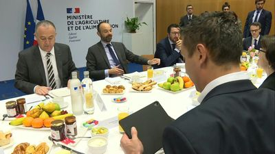 Arrival of French PM Edouard Philippe at the Paris International Agricultural Show