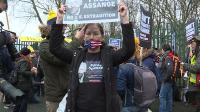 Assange's father warns of extradition consequences as hearing begins