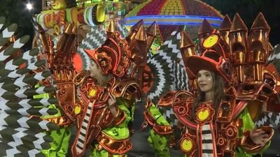 Sao Clemente samba school launches second night of Rio carnival