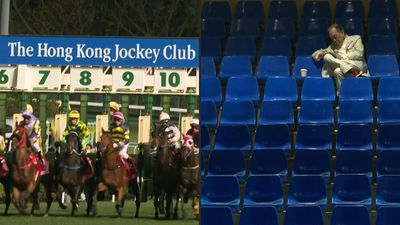 Virus-hit Hong Kong racing gallops on behind closed doors