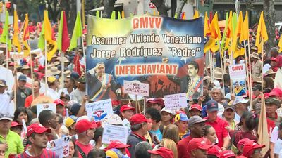 Venezualan government supporters rally to mark 'El Caracazo'