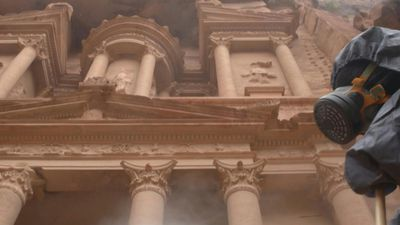 Disinfection of Jordan's archeological city of Petra to fight virus