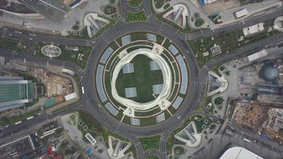 Going round: Drone images of Wuhan as coronavirus restrictions ease
