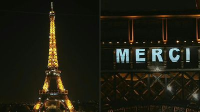 "Coronavirus: Eiffel Tower says ""Thank You"" to crisis responders"