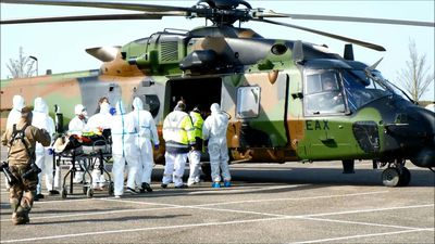 Two French patients evacuated to Germany by helicopter
