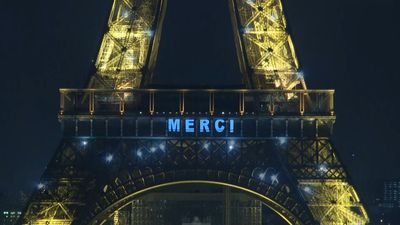 France: Eiffel Tower says 'Merci' to healthcare workers fighting COVID-19