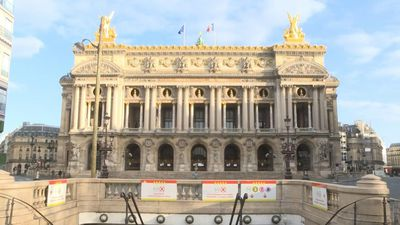 Place de l'Opéra in Paris deserted on 13th day of coronavirus lockdown
