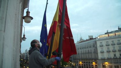 Coronavirus: Flag of the Community of Madrid at half-mast on all public buildings