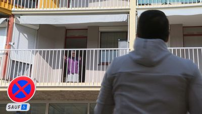 Coronavirus: senior citizens' gym classes from lockdown balconies