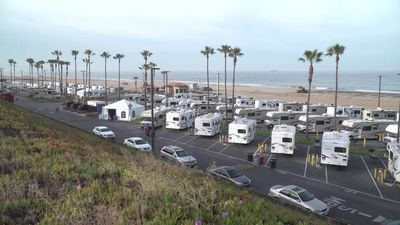 COVID-19 patients quarantined at beachside RV park near LA