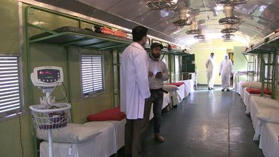Coronavirus: Pakistan turns train coaches into quarantine facility