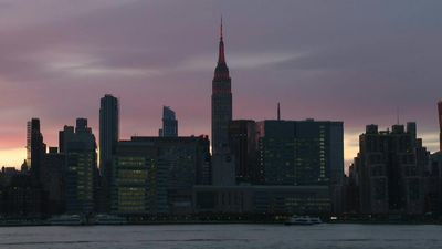 Empire State building lights up red in honor of medical workers