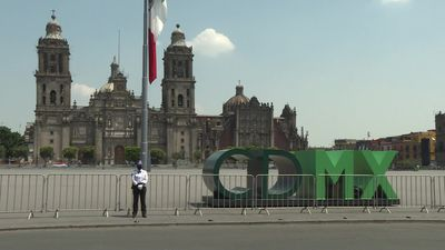 Coronavirus: Downtown Mexico City empty in lockdown