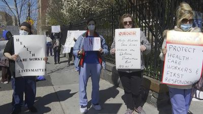 Nurses in NYC protest against poor working conditions amid COVID-19 outbreak