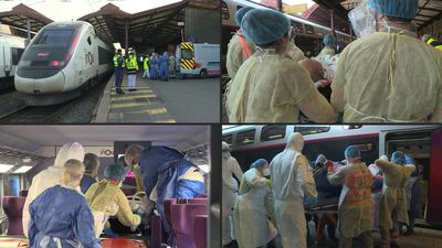 Medicalised train evacuates 24 COVID-19 patients from eastern France